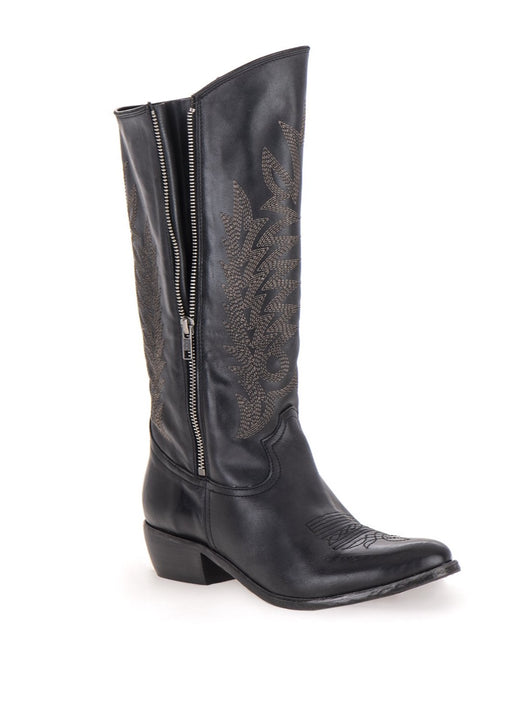 BENEDITA LEATHER ZIP HIGH BOOT
