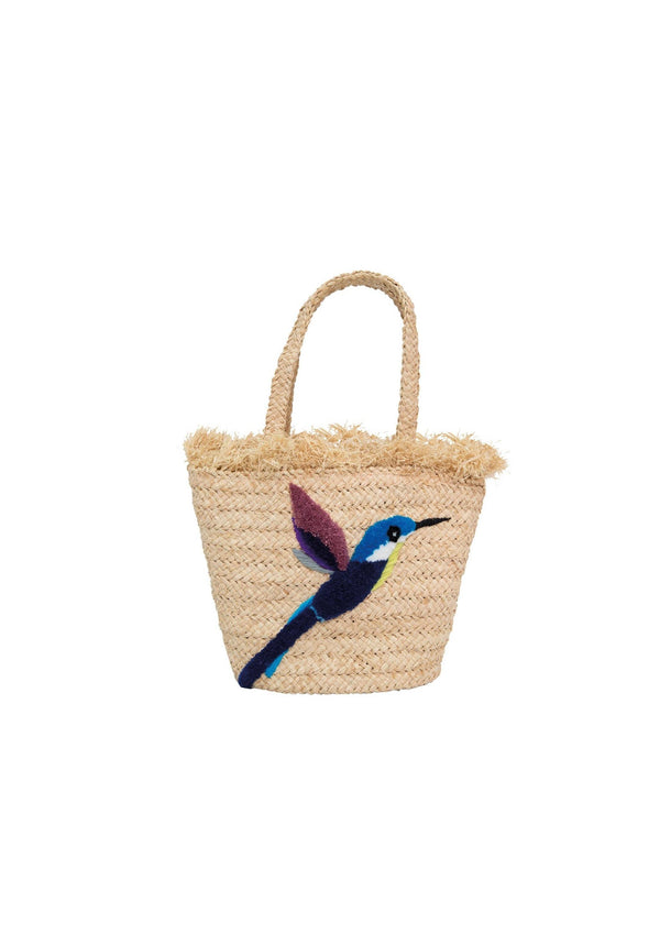 RAFFIA BIRD SMALL BAG - JUSTBRAZIL