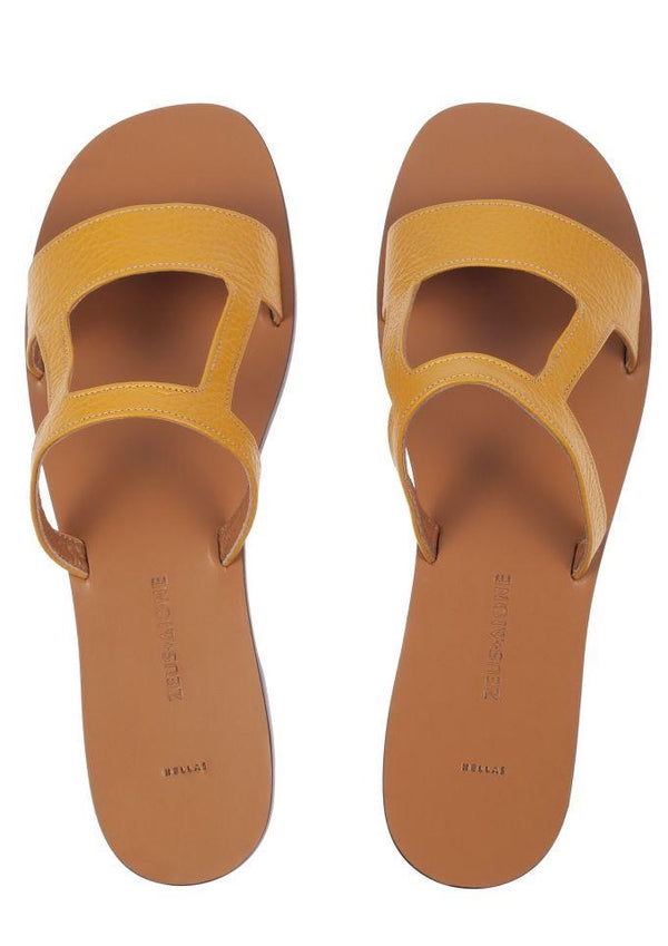 HEPHAESTUS YELLOW CALF SANDALS - JUSTBRAZIL