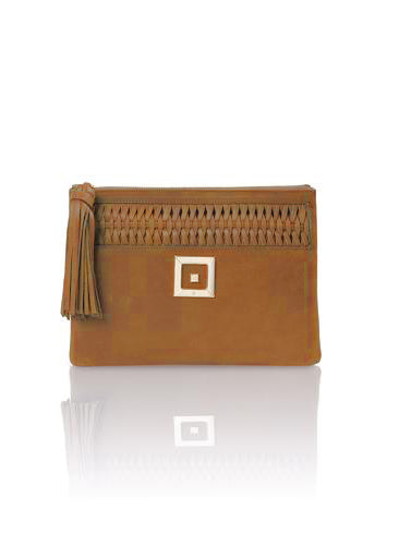 INFINITY SUEDE TABAC CLUTCH