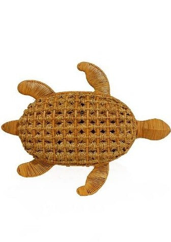 TRACY TURTLE HONEY WICKER BAG - JUSTBRAZIL