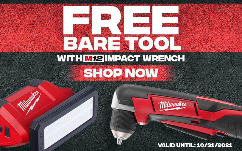FREE Bare Tool With this Milwaukee M12 impact wrench