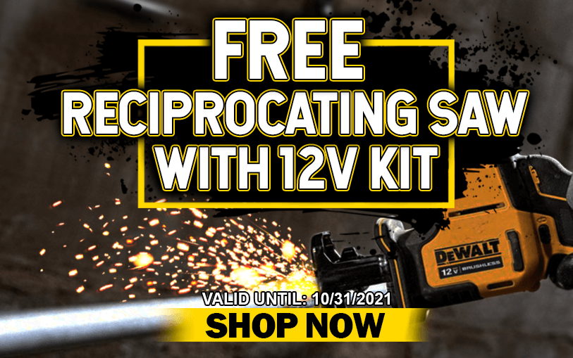 FREE Reciprocating Saw with 12V kit