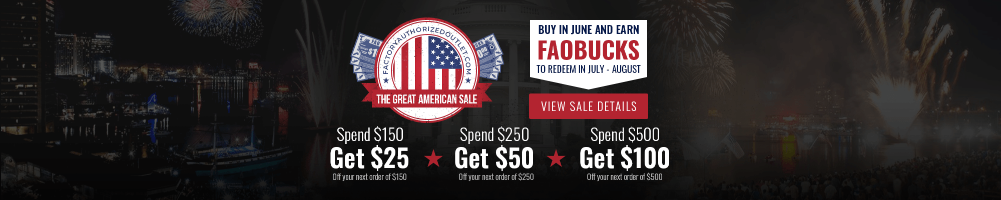 Great American Sale 2020 at factoryauthorizedoutlet.com