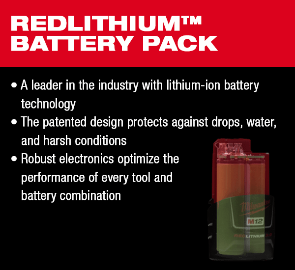 milwaukee m12 fuel redlithium battery