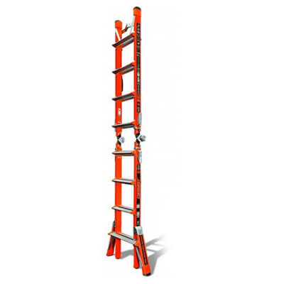 Little Giant 15144-186 Conquest Fiberglass Ladder M17 Type IAA 375 lb. Capacity w/ V-Rung