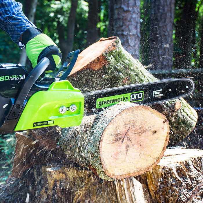 GreenWorks CS80L211 80-Volt 16-Inch 2.0Ah Cordless Chainsaw Kit - 2004502