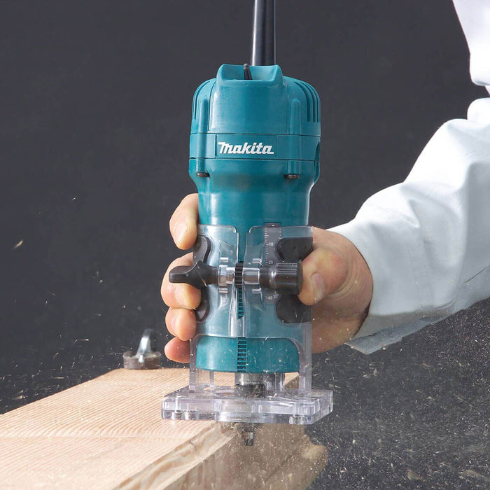 Makita 3709 1/4-Inch 4-Amp Compact Corded Laminate Trimmer with fixed base