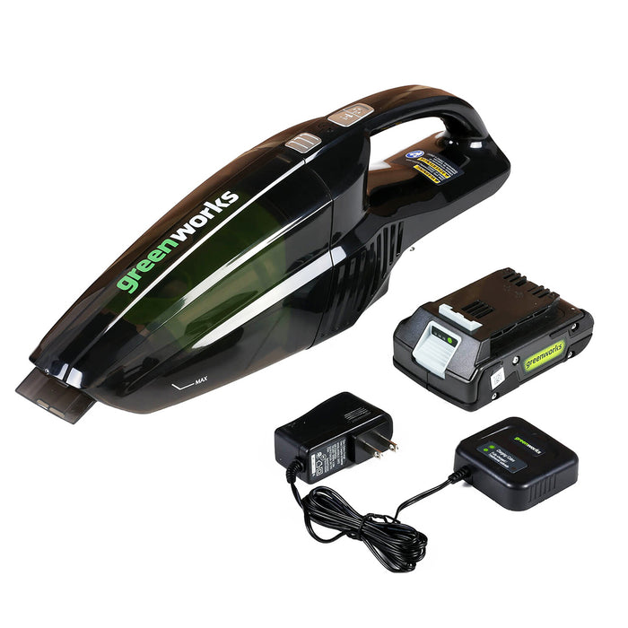 GreenWorks 4700002 24-Volt Durable Portable Cordless Bagless Hand Vacuum Kit