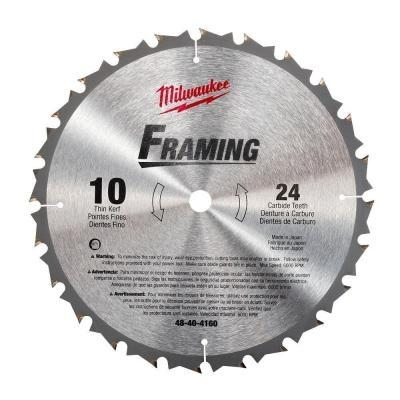 Milwaukee 48-40-4160 10-Inch 24-Carbide Teeth Regular Kerf Circular Saw Blade