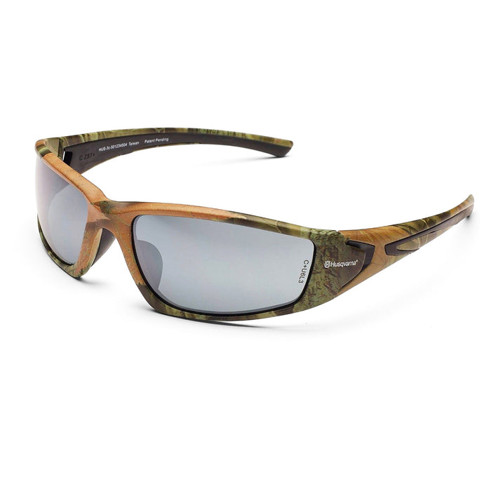 Husqvarna 501234504 Camouflage  Woodland Durable Eye Protection Sun Glasses