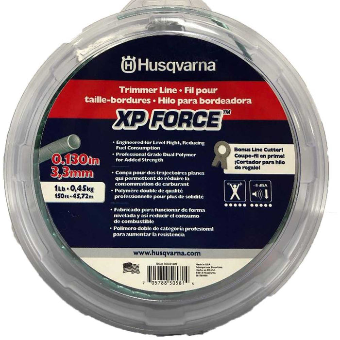 "Husqvarna 505031609 .130""x150' Dual Polymer High Performance Force Trimmer Line"