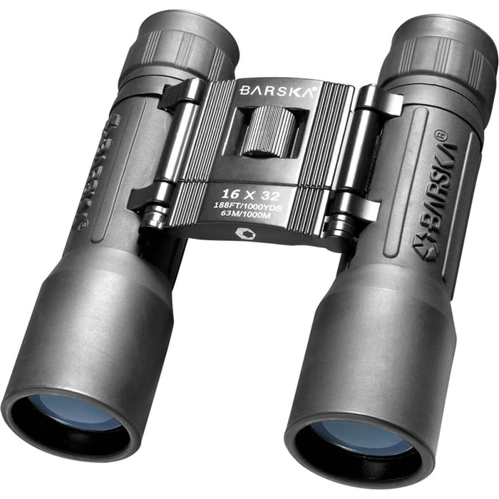 Barska AB10114 16X32 Fully Coated Lucid View Compact Blue Lens Black Binoculars