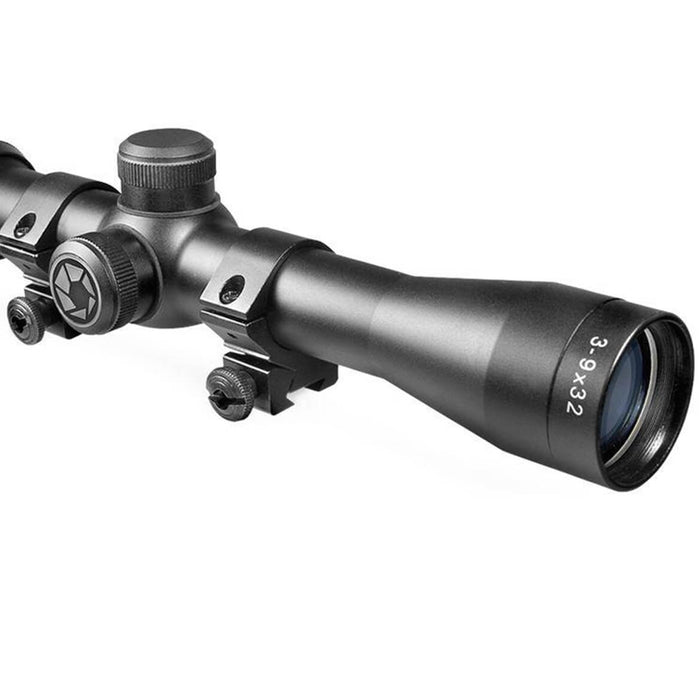 Barska AC10380 3-9x32 Plinker-22 Riflescope Rifle Scope Black w/ Rings