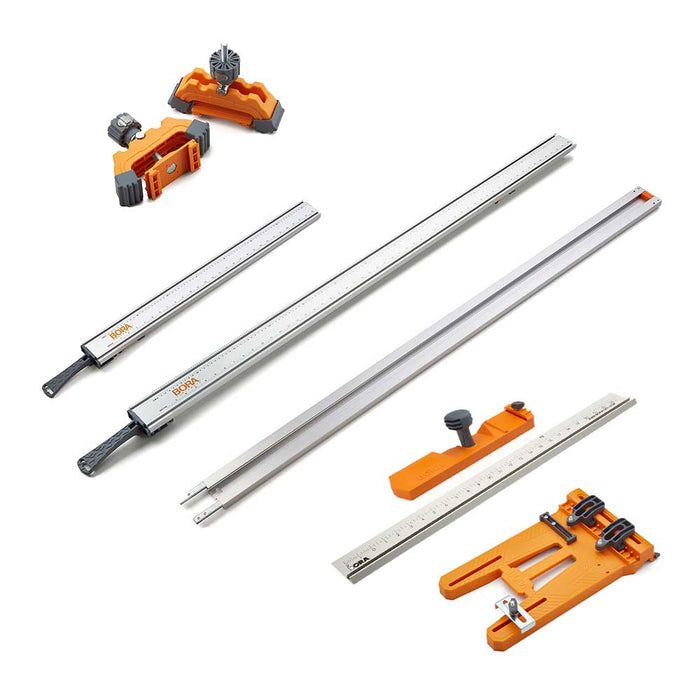 Bora 545610K WTX Heavy Duty Aluminum Compact Clamp Ruled Edge Kit  - 6 PC