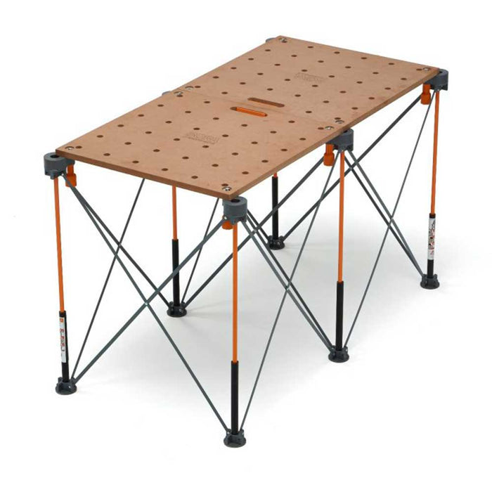 "Bora CK22T 24x48"" Durable Centipede Workbench Tabletop w/ 3/4"" Dog Holes"