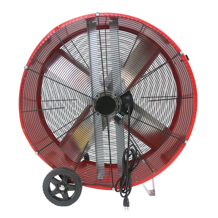 Maxx Air BF36DD RED 36-Inch 2-Speed Red High Velocity Direct Drive Drum Fan
