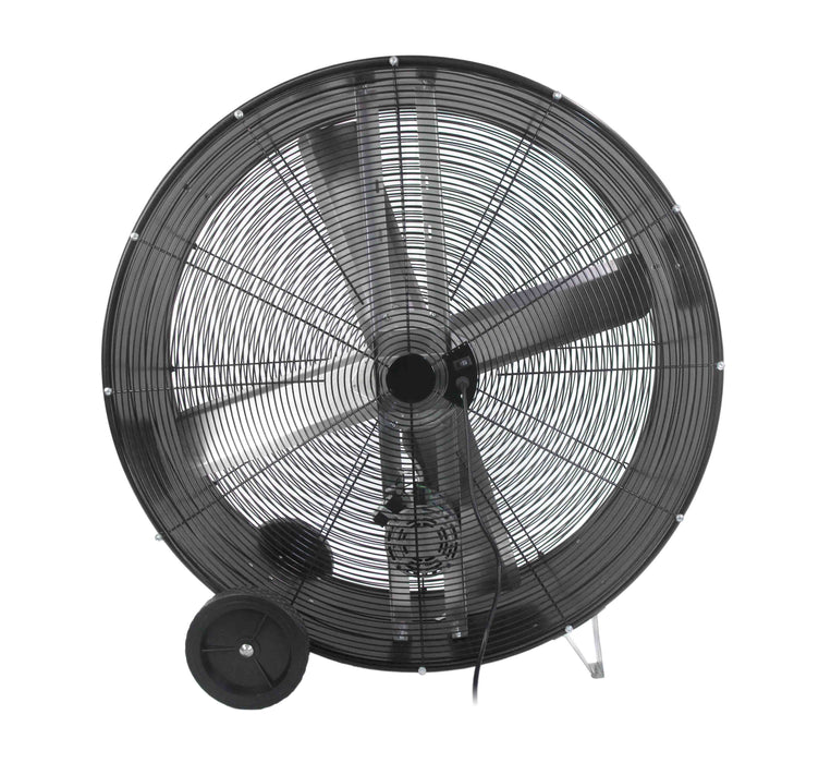 Maxx Air BF42BDBLKPRO 42-Inch 2-Speed Portable Pro Belt Drive Barrel Air Fan