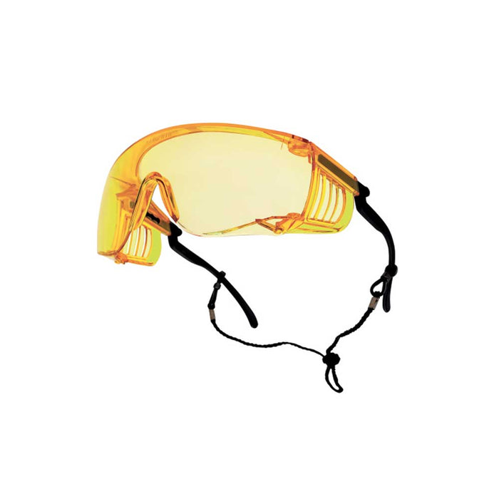 Bolle Safety 40055 Yellow Lens Anti-Scratch/Anti-Fog Override Safety Glasses