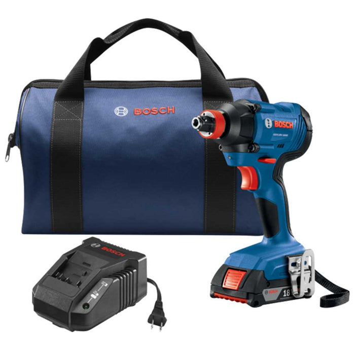 "Bosch GDX18V-1600B12 18V 1/4"" / 12"" Bit/Socket Impact Driver Kit - Reconditioned"
