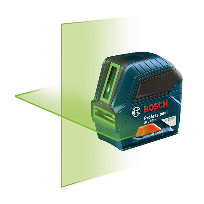 Bosch GLL100GX 100' Green Beam Self Leveling Cross Line Laser - Reconditioned