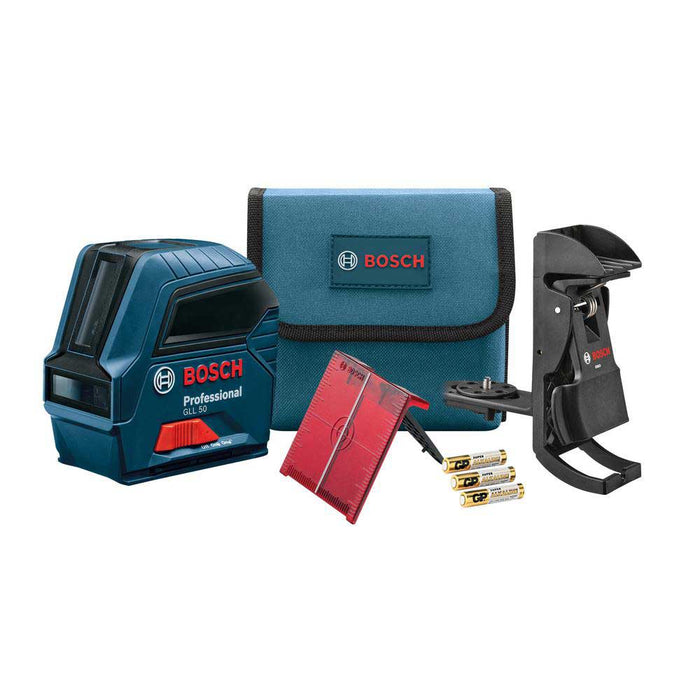 Bosch GLL50 50' Red Beam VisiMax Self Leveling Cross Line Laser - Reconditioned