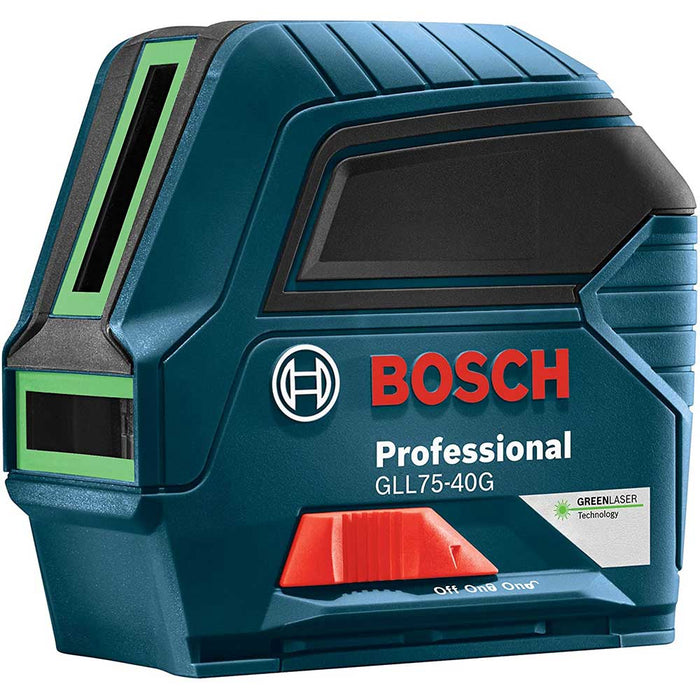 Bosch GLL75-40G 75' Green Beam Self Leveling Cross Line Laser - Reconditioned
