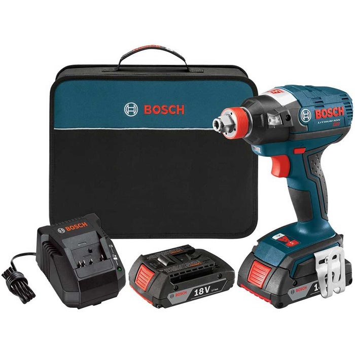 "Bosch IDH182-02-RT 18V 1/4"" Cordless Impact Driver Set - Reconditioned"