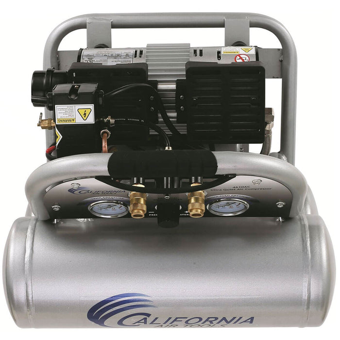 California Air Tools 4610AC 110-Volt 1.0-HP 4.6-Gallon Twin Tank Air Compressor
