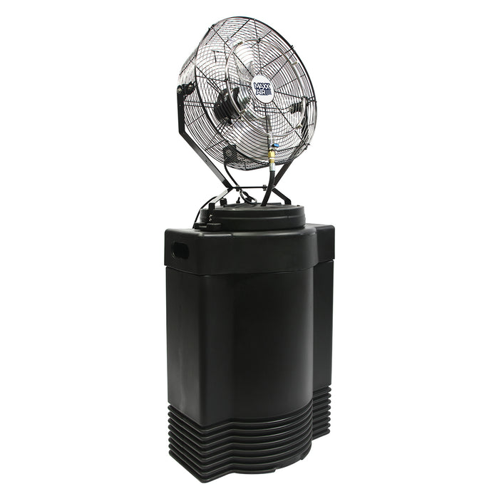Maxx Air CDHP1840GRY 18-Inch High-Pressure Misting Air Fan on 40-Gallon Cooler