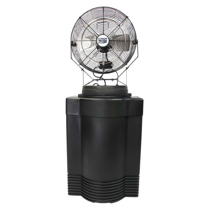 Ventamatic CDMP1840GRY 18-Inch Mid-Pressure Misting Air Fan on 40-Gallon Cooler
