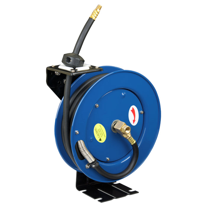 "Cyclone Pneumatic 3/8"" x 25' 300 PSI Retractable Air Hose Reel w/ Rubber Hose"