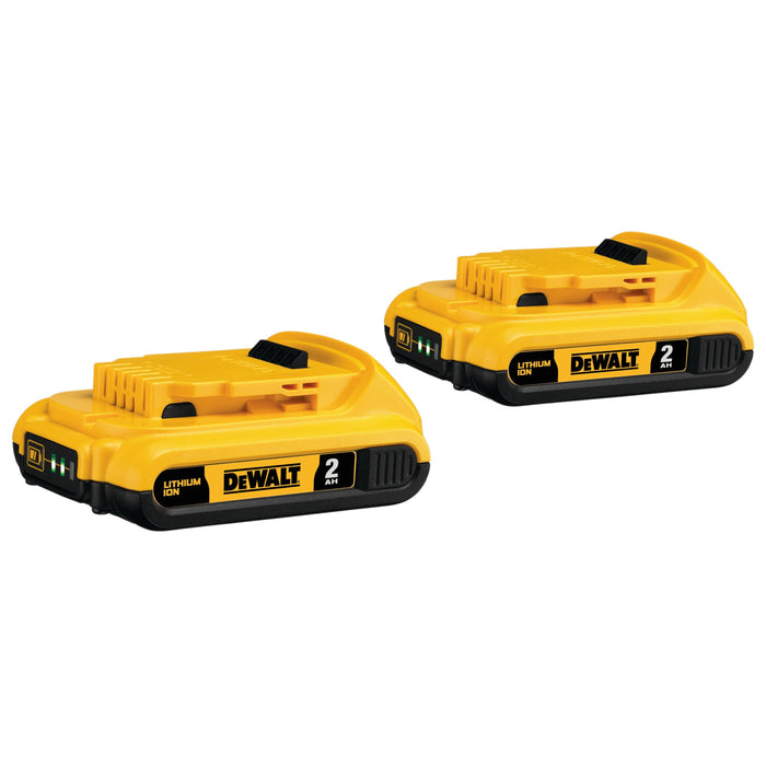 DeWALT DCB203-2 20V MAX Compact XR Lithium Ion Power Tool Battery, 2 Pk