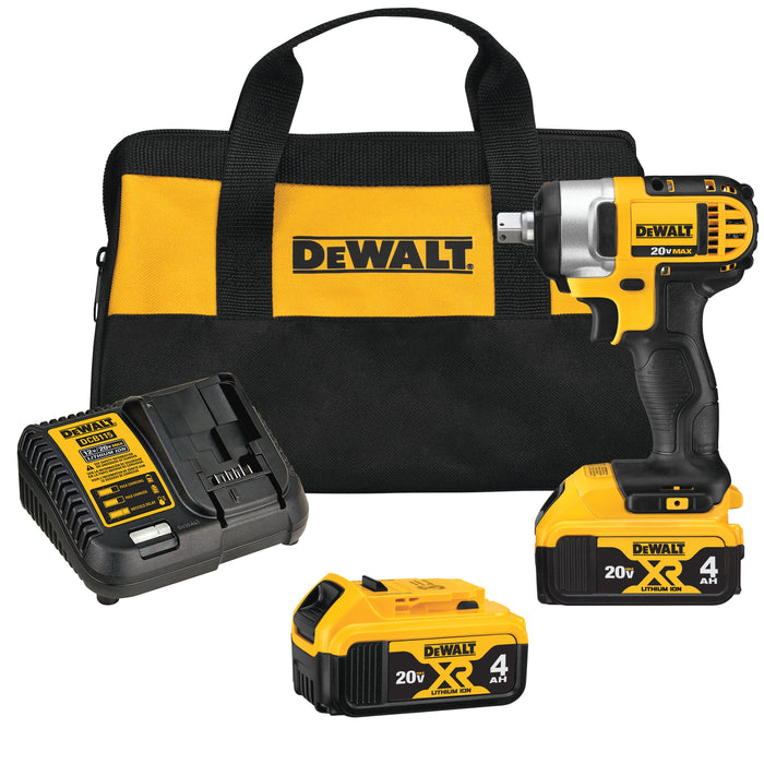 DeWALT DCF880M2 20V MAX 1/2-Inch Lithium Ion Impact Wrench Kit w/ Detent Pin