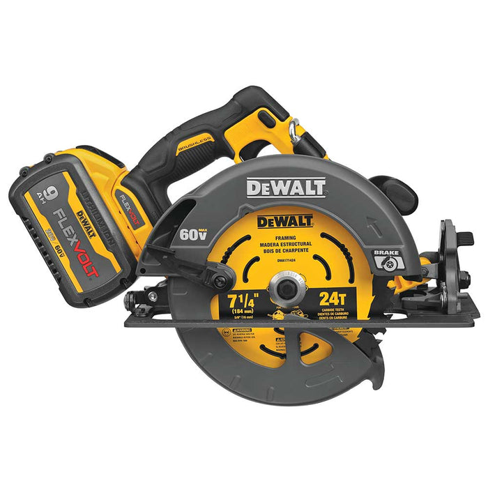 "DeWALT DCS578X1 60V 7-1/4"" MAX FLEXVOLT Cordless Circular Saw w/ Brake Kit"