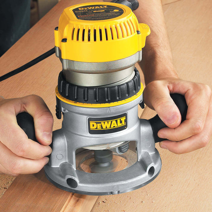 DeWALT DW618 2-1/4 HP EVS Fixed Base Woodworking Router w/ Soft Start