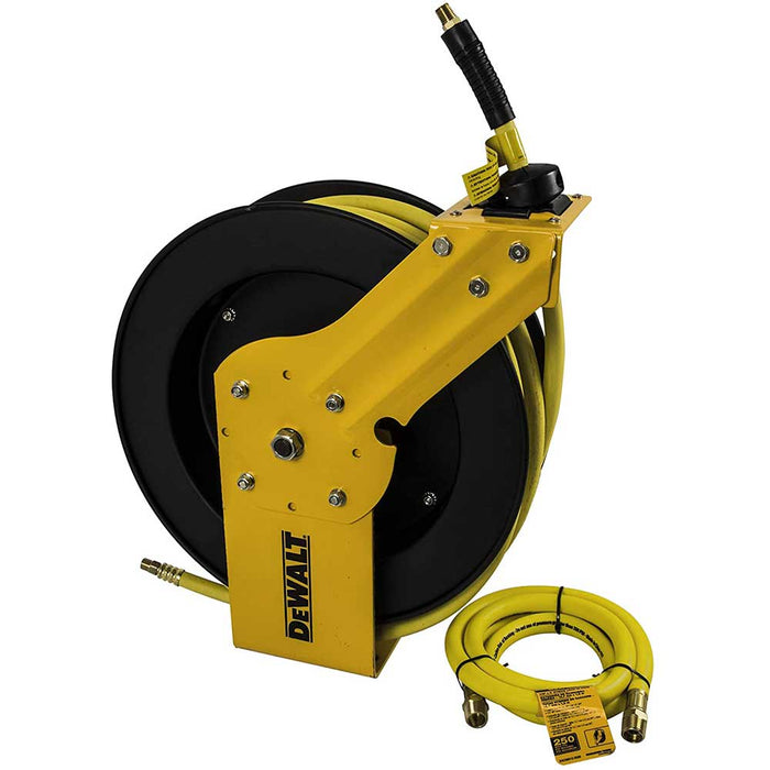 "DeWALT DXCM024-0374 3/8"" x 50' Single Arm Auto Retracting Air Hose Reel"
