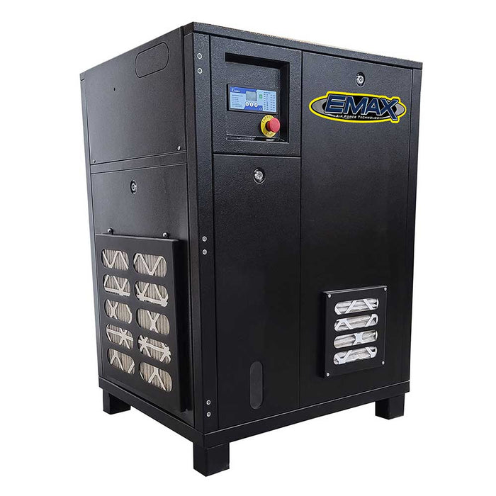 EMAX ERI0200003 230/460V 20 HP 3 PH Industrial Tankless Rotary Screw Compressor