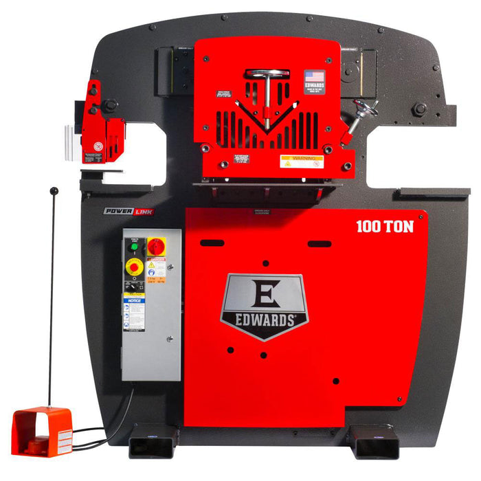 Edwards IW100-3P230-AC600 230V 100 Ton 3 Phase Ironworker w/ PowerLink System