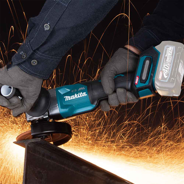 "Makita GAG03Z 40V MAX XGT 4-1/2"" / 5"" Paddle Switch Angle Grinder - Bare Tool"