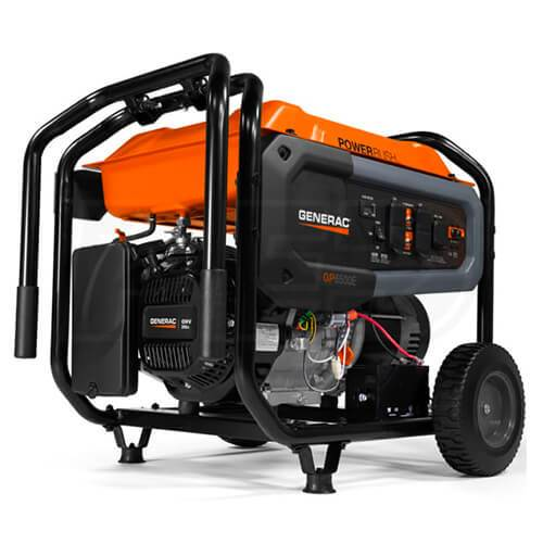 Generac GP6500E 389cc 120-Volt 27-Amp Electric Start Portable Generator - 7682