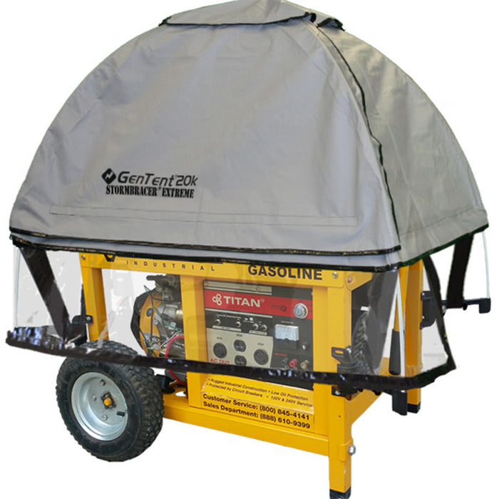 GenTent GT20KB4UGB GreySkies Stormbracer Canopy Cover for Portable Generators