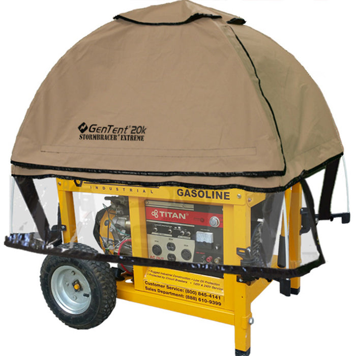 GenTent GT20KB4UTB TanLight Stormbracer Canopy Cover for Portable Generators