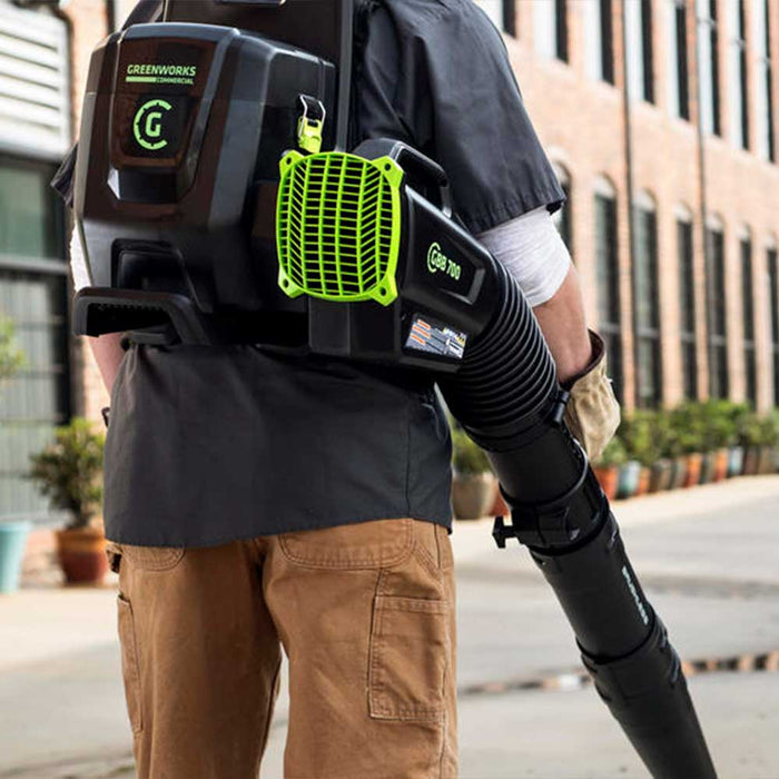 GreenWorks Commercial GBB700 82V 690 CFM Dual Port Backpack Blower - Bare Tool
