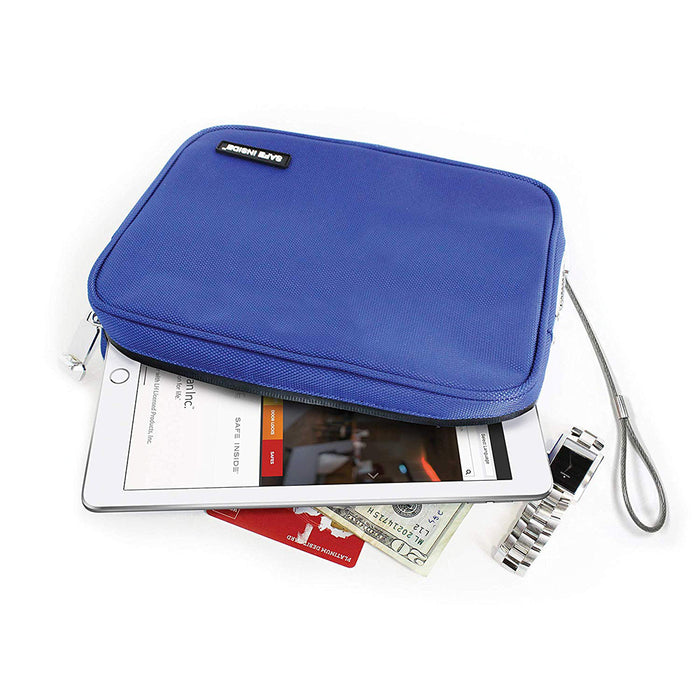 Honeywell 6552B Safe Inside Locking Privacy Pouch with Steel Tether Cable, Blue