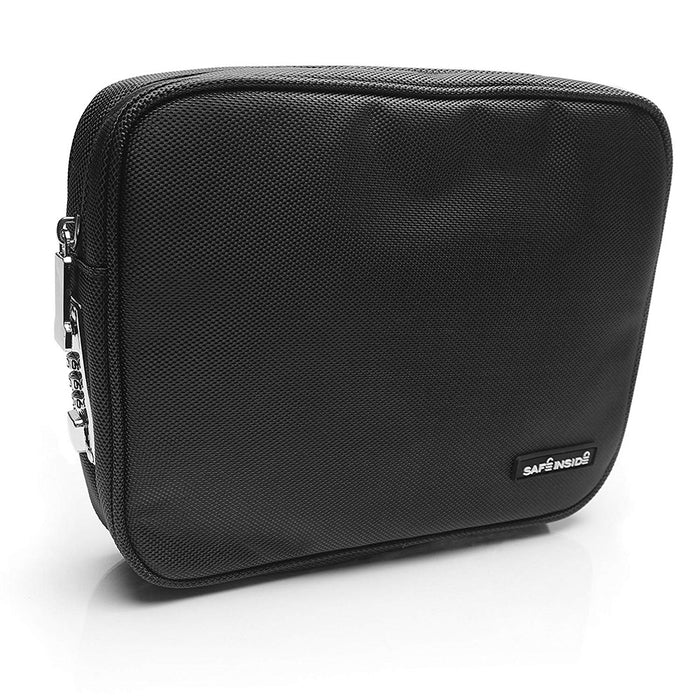 Honeywell 6555K Safe Inside Locking Privacy Pouch with Steel Tether Cable, Black