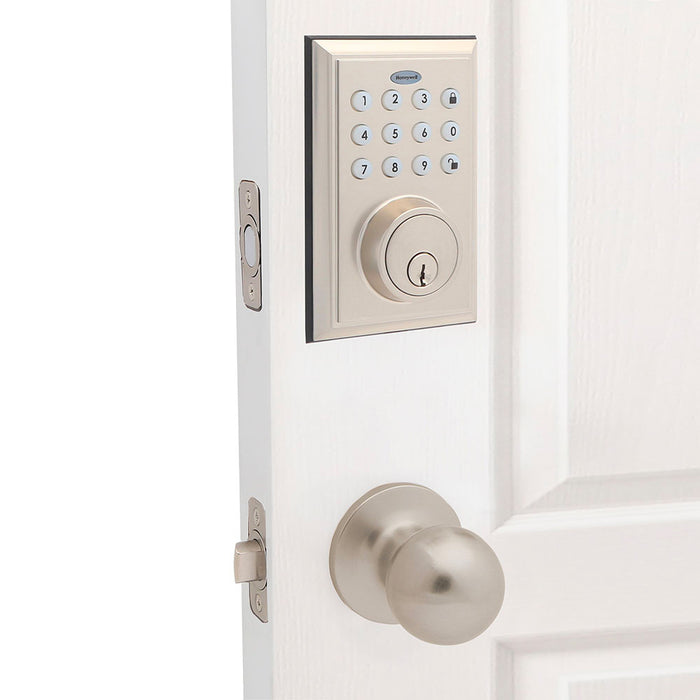 Honeywell 8812309S Bluetooth Enabled Digital Deadbolt Door Lock, Satin Nickel