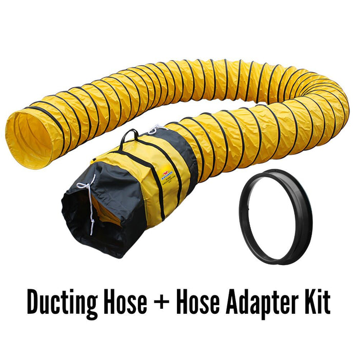 XPower 16DH15 15-Foot Extra Flexible Ventilation PVC Duct Hose and Adapter Kit