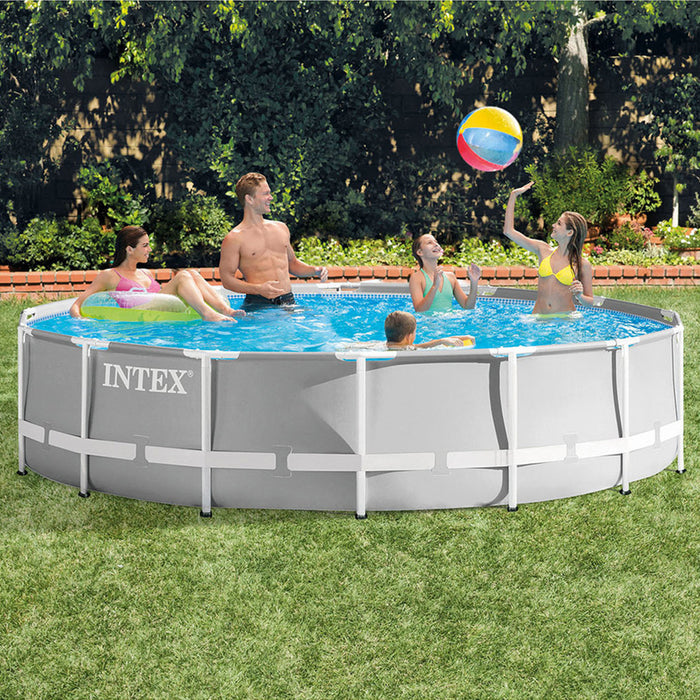 Intex 26719eh 14 Foot X 42 Inch Prism Metal Frame Pool Set