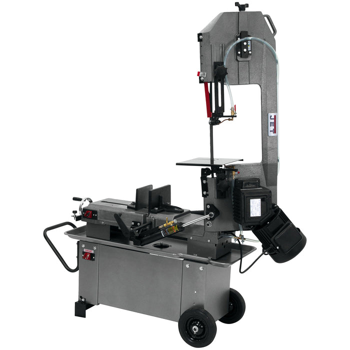 "JET HBS-812G 8""x12"" Horizontal/Vertical Geared Head Bandsaw 115/230V 1PH 413460"
